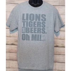Like New Large Mi Beers Michigan Team Theme Shirt.